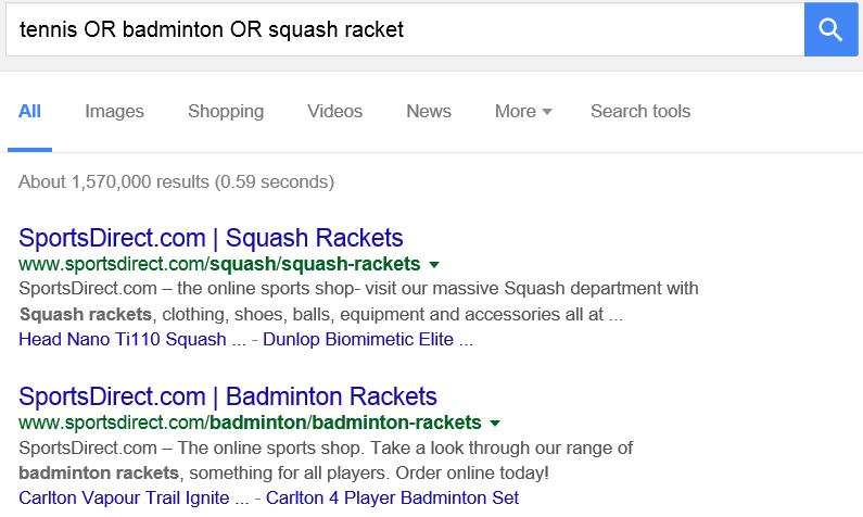 tennis or squash or badminton